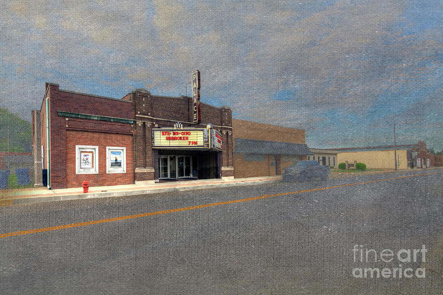 Hdr Digital Art - Palace Theater by Larry Braun