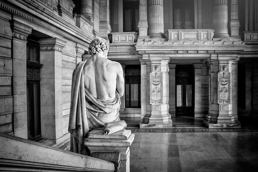 Brussels Photograph - Palais De Justice Brussels Black And White by Carol Japp