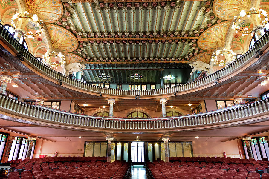 Palau De La Musica In Barcelona Photograph by 1001nights