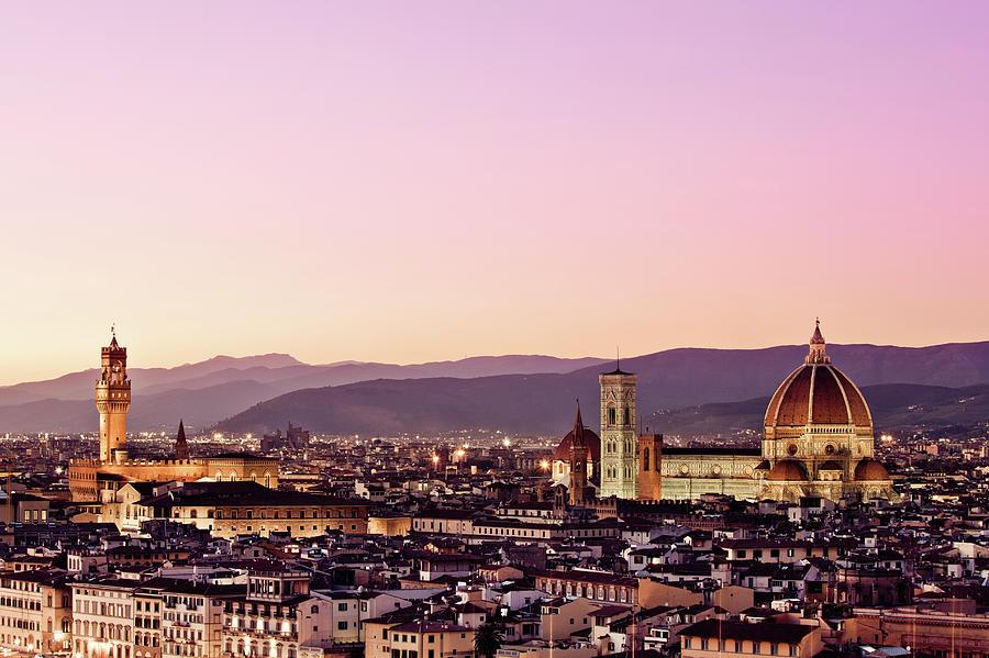 Palazzo Vecchio And Duomo, Florence Photograph by Zodebala