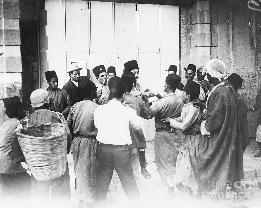 Palestinians Listen To British Photograph by Bettmann