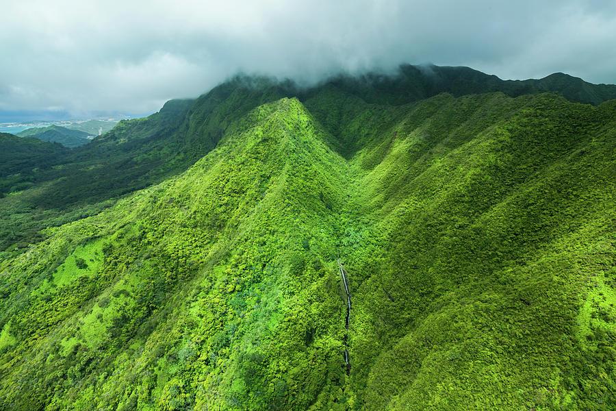 Mountains Photograph - Pali Waterfall by Cameron Brooks