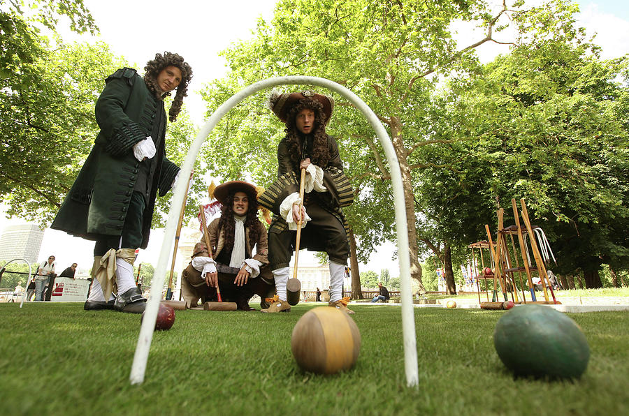 Pall Mall Turns Into A Croquet Lawn As Photograph by Oli Scarff