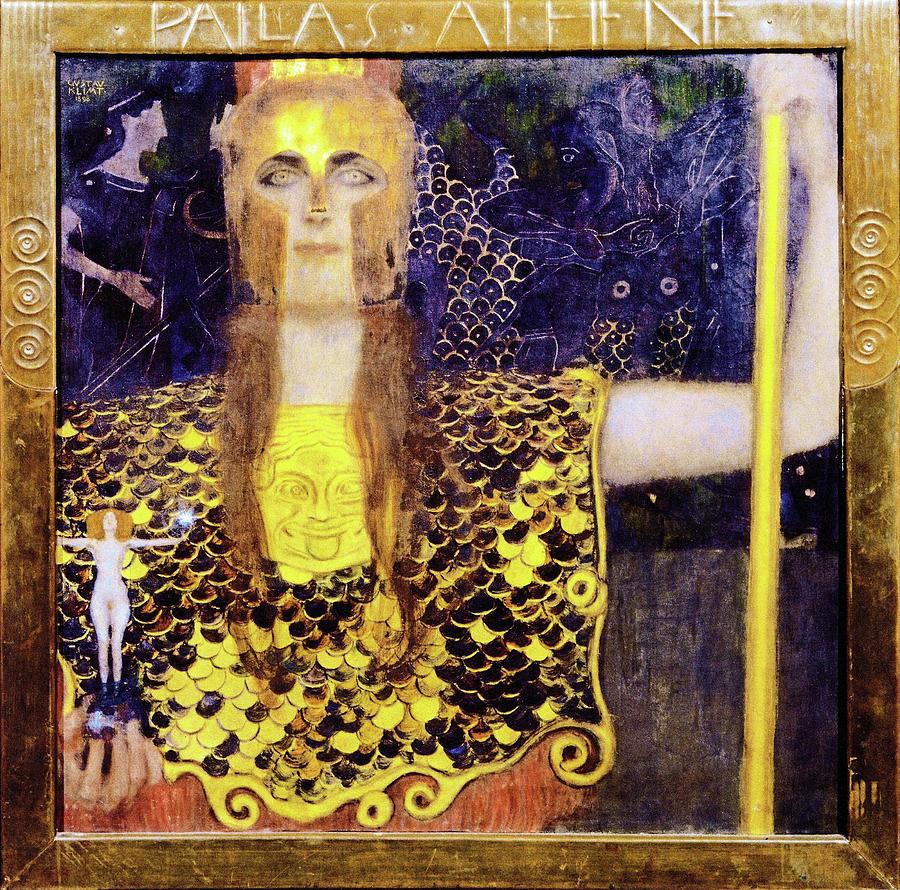 Pallas Athena Painting - Pallas Athena - Digital Remastered Edition by Gustav Klimt