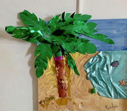 Palm Beach 3D Art to Touch by Kenlynn Schroeder