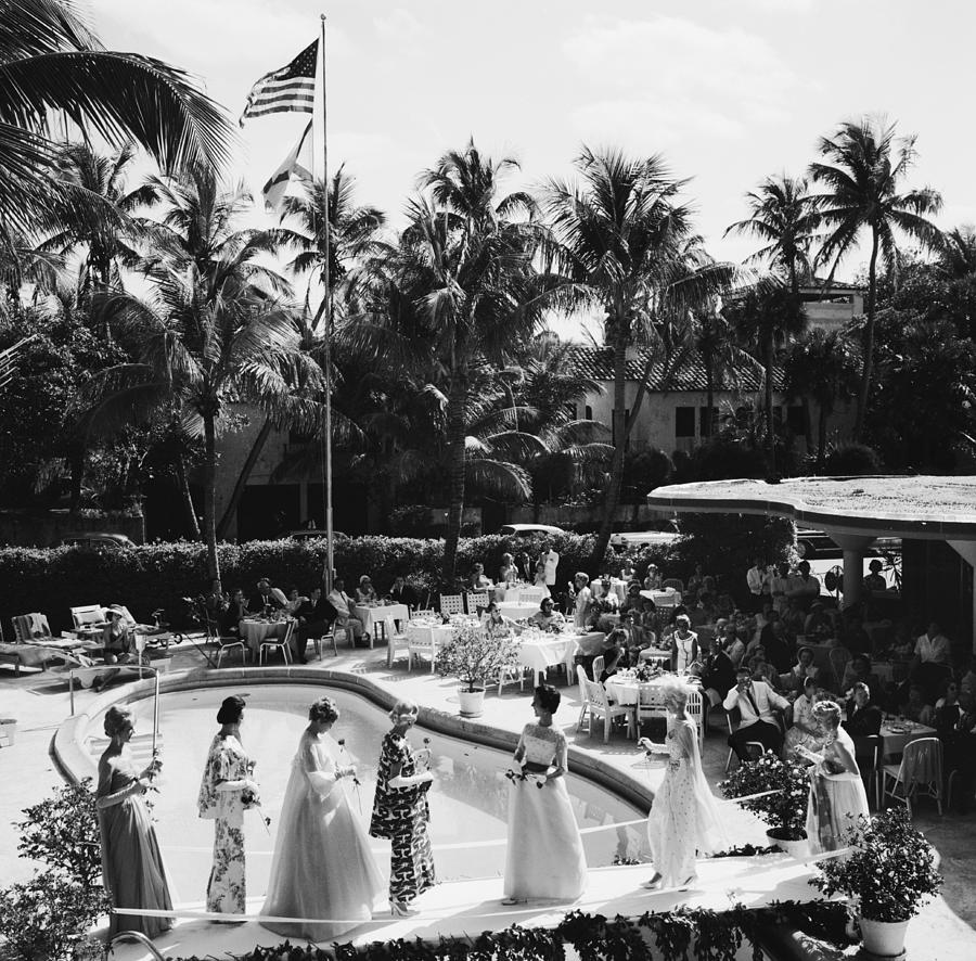 Palm Beach Fashion Show Photograph by Slim Aarons