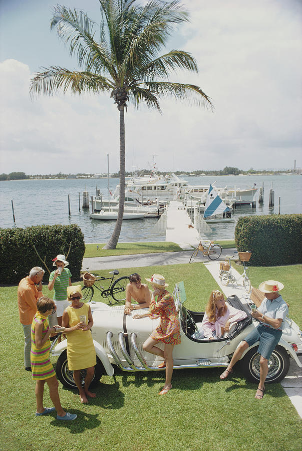 Palm Beach Society Photograph by Slim Aarons