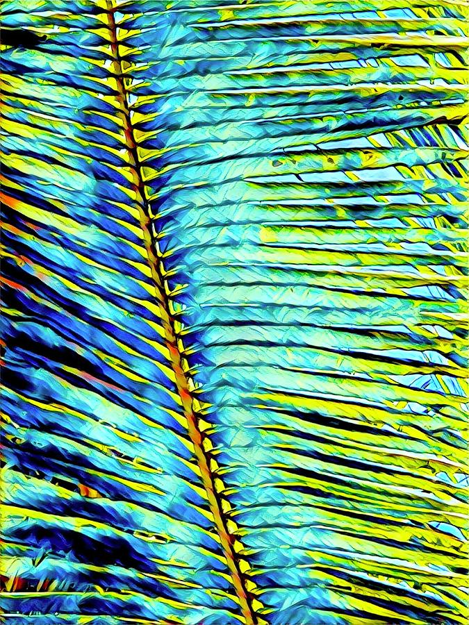 Palm Frond in Turquoise by Joalene Young
