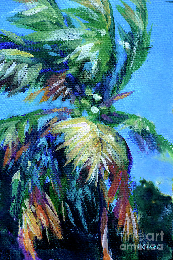 Palm Painting - Palm In The Breeze by John Clark