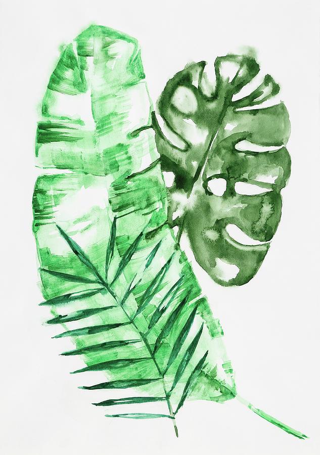 Palm Leaves-Banana, Coconut, Monstera by Maria Arnaudova