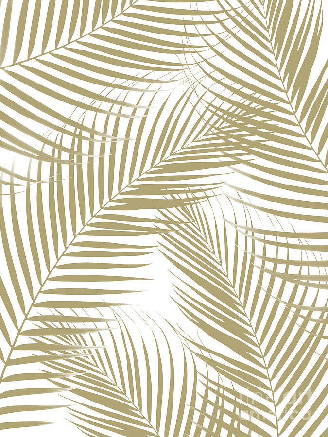 Palm Leaves Gold Cali Vibes 1 Tropical Decor Art Mixed Media By Anitas And Bellas Art Download premium vector of hexagon golden nature frame on a marble background vector by adj about monstera, vector, wedding invitation, glitter and. fine art america