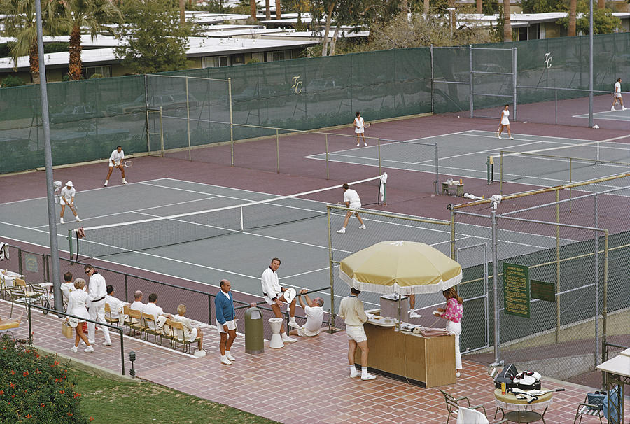 Palm Springs Tennis Club Photograph by Slim Aarons
