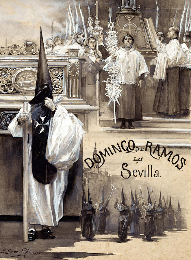 Ramos Painting - Palm Sunday In Seville by Jose Garcia Ramos