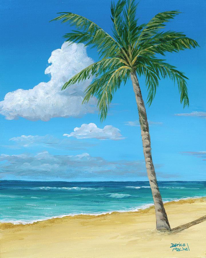Palm Tree On The Beach by Darice Machel McGuire