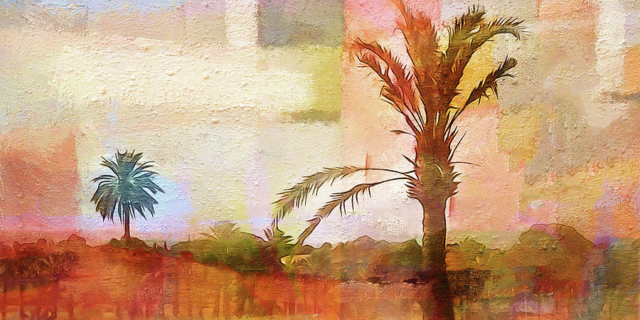 Palm-trees Panoramic by Lutz Baar