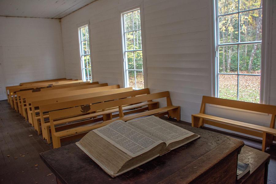 Palmer Chapel Cataloochee by Douglas Wielfaert