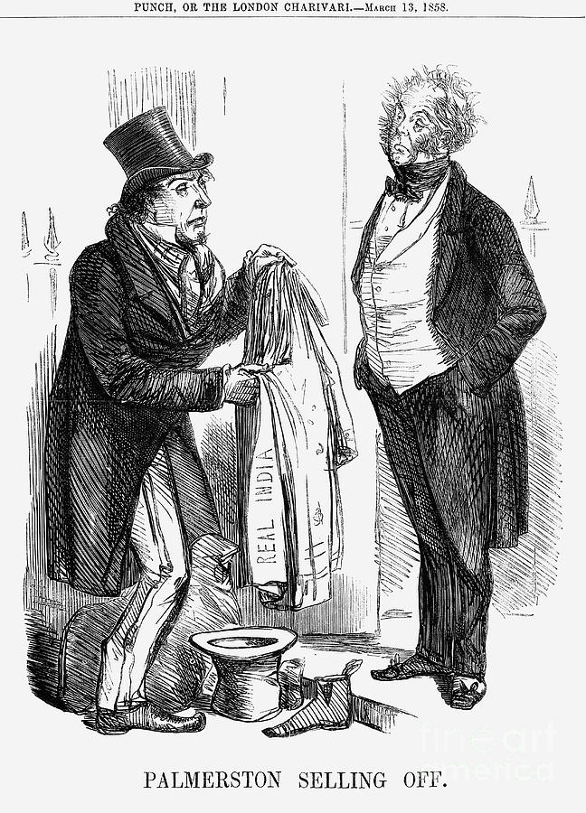 Palmerston Selling Off, 1858 Drawing by Print Collector
