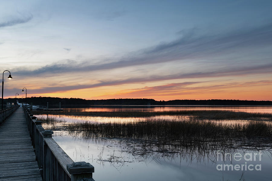 Palmetto State Sunset Sky - Wando River Photograph