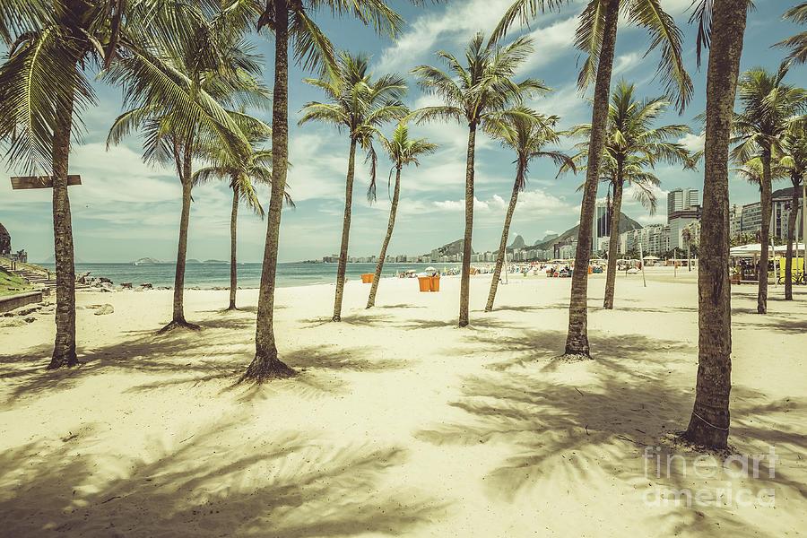 De Photograph - Palms With Shadows On Copacabana Beach by Marchello74
