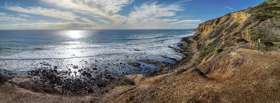Palos Verdes Cliffs from Sagebrush Walk Trail Panorama by Andy Konieczny