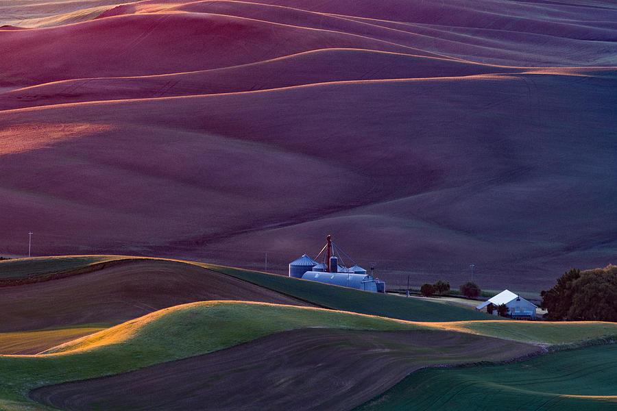 Palouse Photograph - Palouse At Sunrise by Austin Li