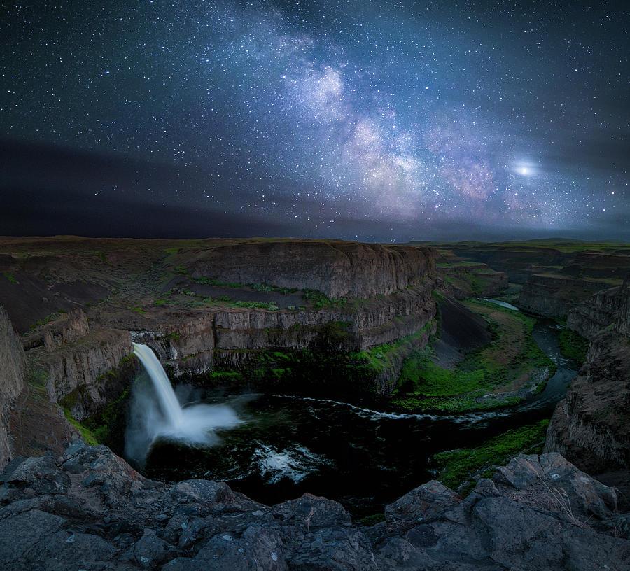 Palouse Falls Milky Way / Palouse, Washington  by Nicholas Parker