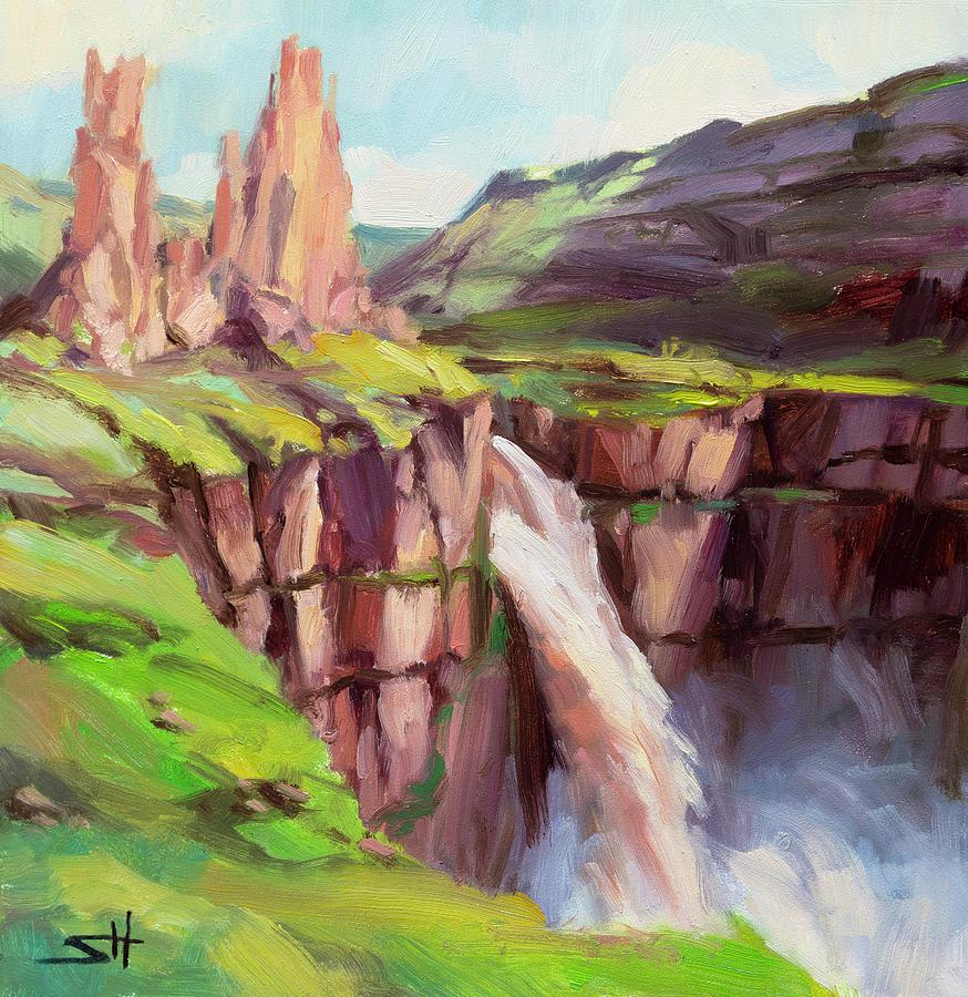 Palouse Falls Rush by Steve Henderson