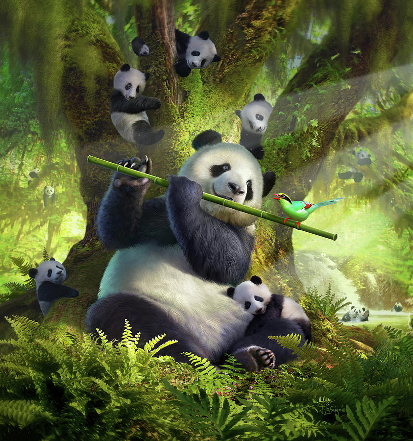 Panda Digital Art - Pan Da Bear by Jerry LoFaro