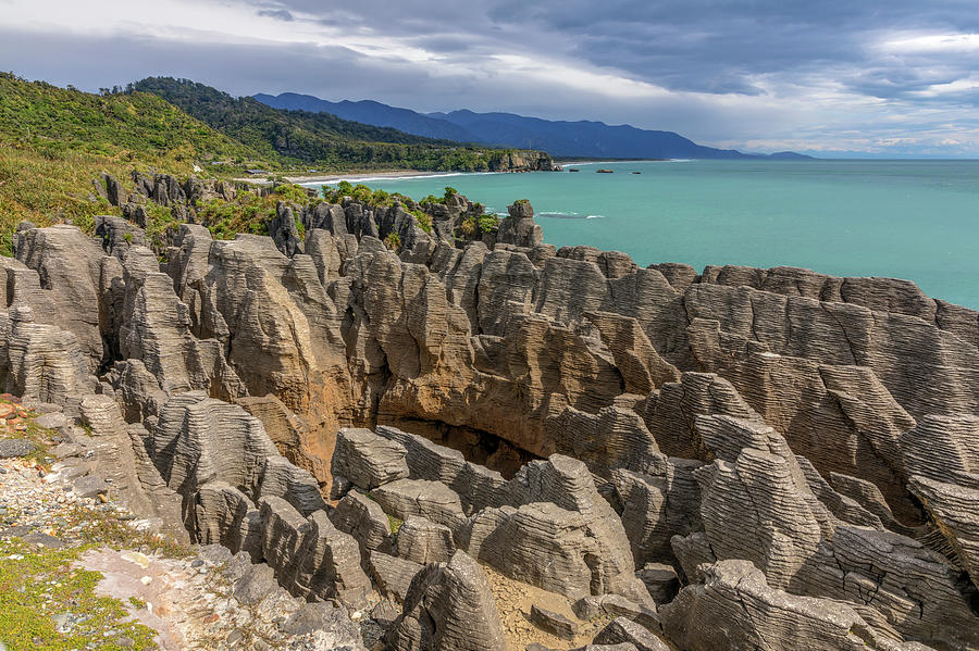 Pancake Rocks Photograph - Pancake Rocks - New Zealand by Joana Kruse