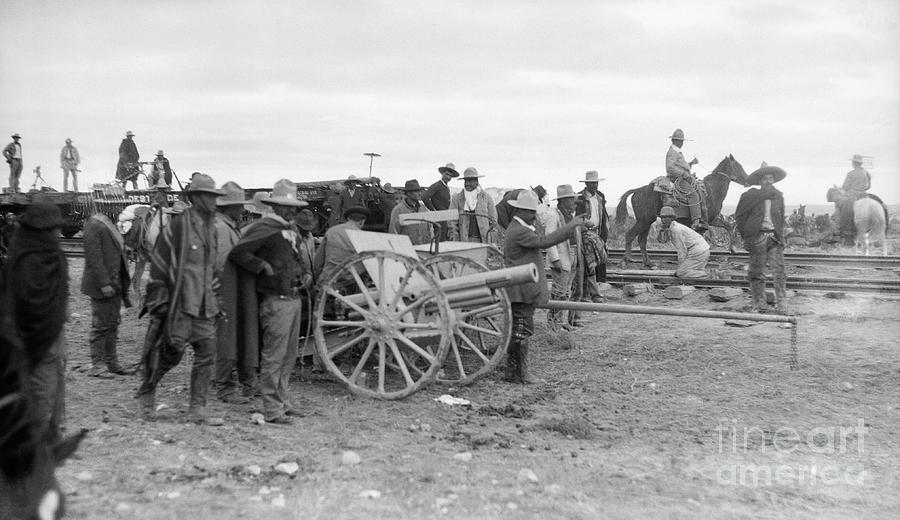 Pancho Villa Directing Cannon Fire Photograph by Bettmann