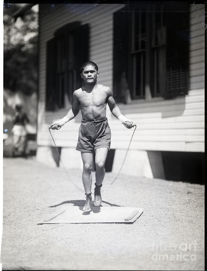 Pancho Villa Jumping Rope, Training Photograph by Bettmann