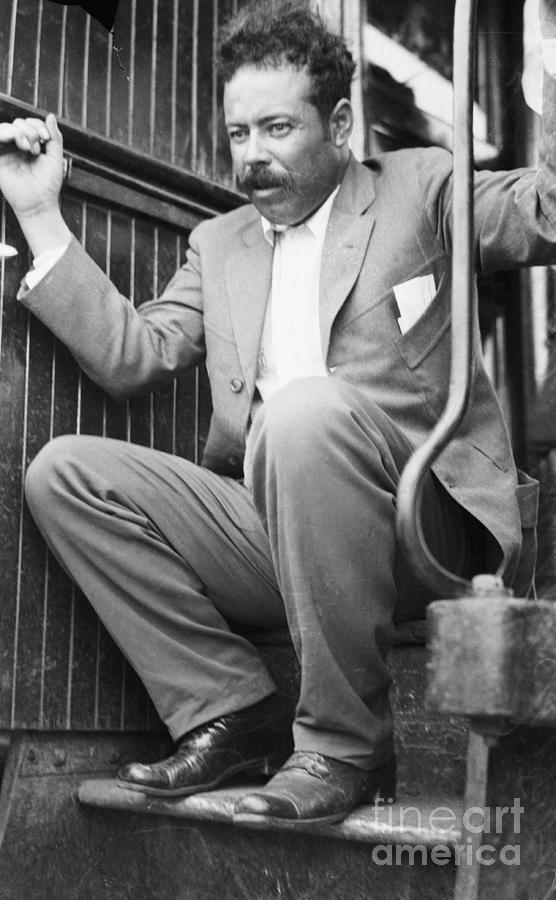 Pancho Villa On Train Step Photograph by Bettmann