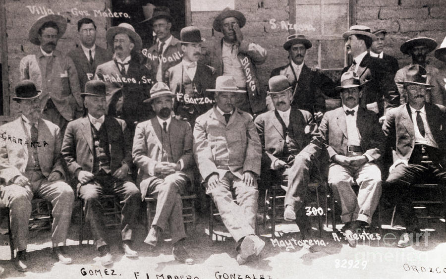 Pancho Villa With F.i. Madera And Others Photograph by Bettmann