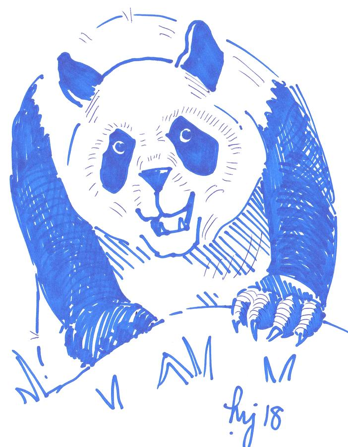 Panda cartoon by Mike Jory