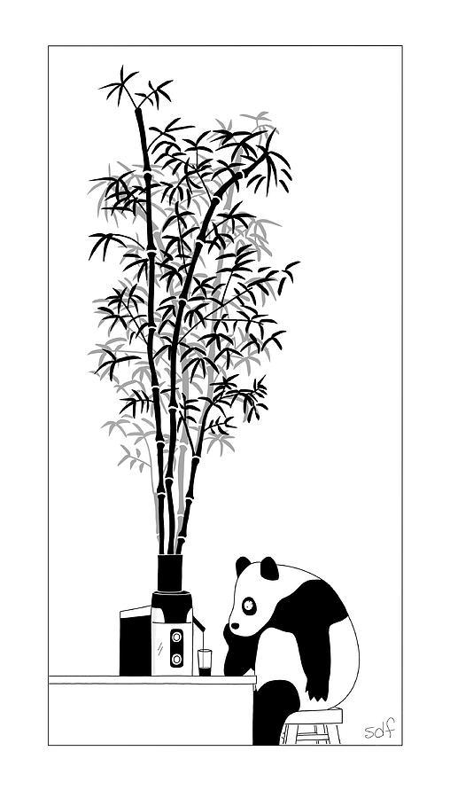 Panda Juice Drawing by Seth Fleishman