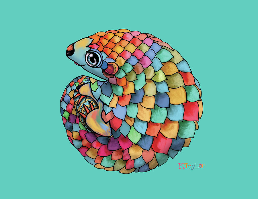 Pangolin Digital Art - Pangolin by Karin Taylor