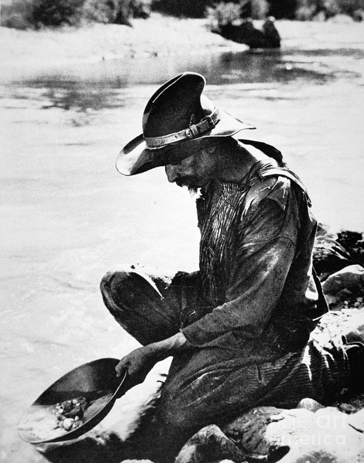Panning Photograph - Panning For Gold In California by American Photographer