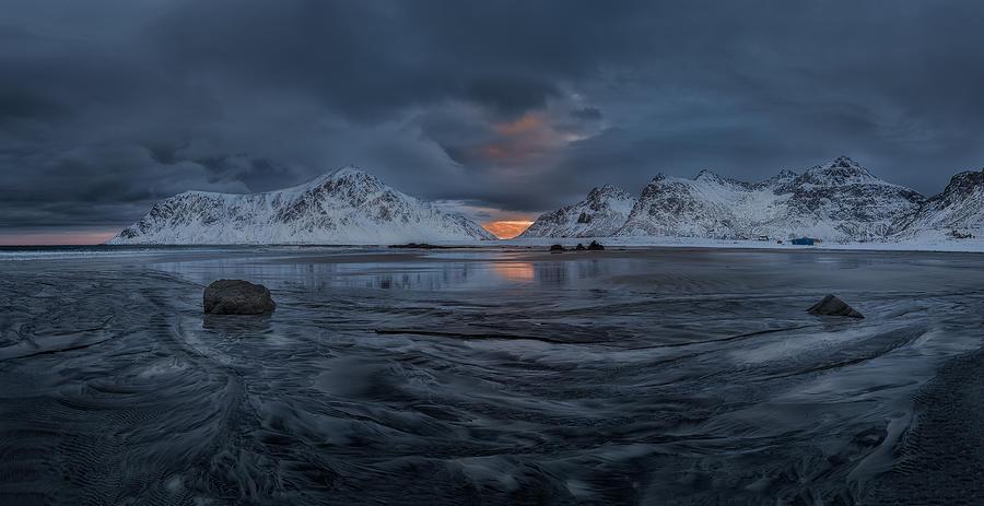 Pano Skagsanden  Lofoten Norway Photograph by Ronny Olsson