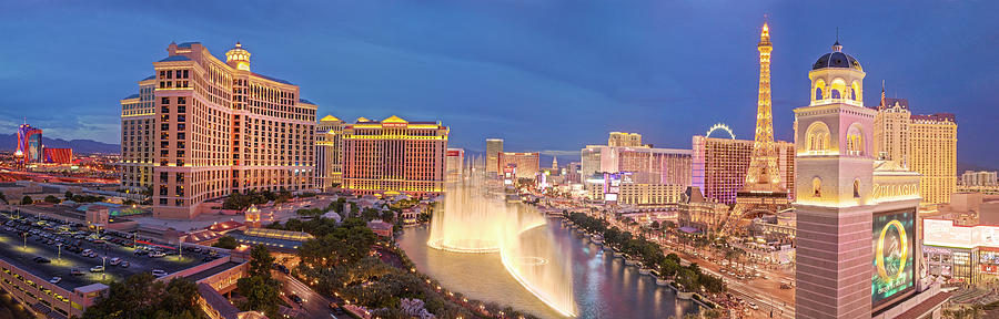 Las Vegas Photograph - Panorama 1 Las Vegas by Moises Levy