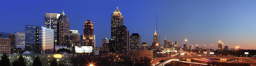 Panorama Of Atlanta, Georgia Photograph by Jumper