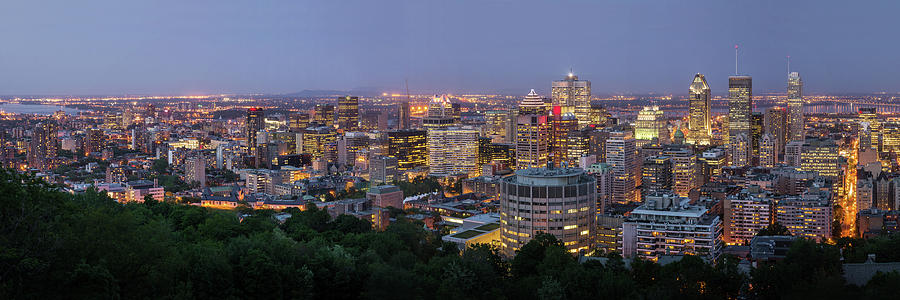 Tranquility Photograph - Panorama Of Montreal Skyline by Wichan Yingyongsomsawas