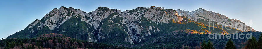 Panorama of mountain peaks by Catalin Petolea