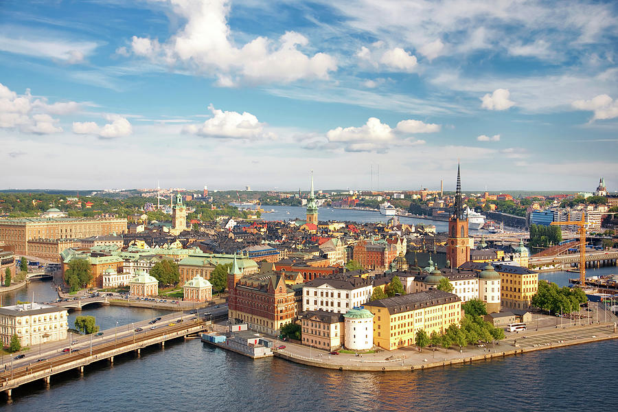 Panorama Of Stockholm, Sweden Photograph by 97