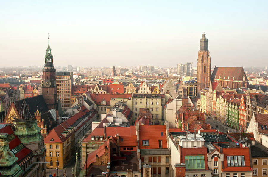 Panorama Of The City Of Wroclaw Photograph by By Grzegorz Polak