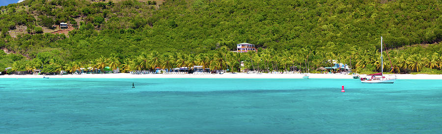 Panorama Of White Bay, Jost Van Dyke Photograph by Cdwheatley
