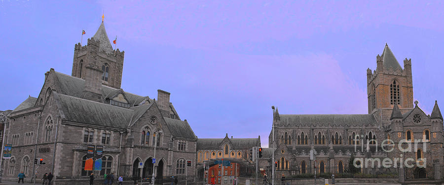 Panorama View of Christ Church Dublin Ireland by Rebecca Carr