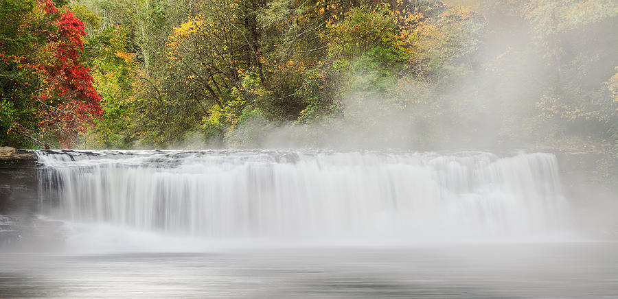 Adam Jones Photograph - Panoramic Autumn View Of Hooker Falls by Adam Jones