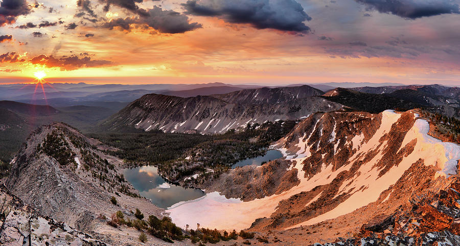 Nature Photograph - Panoramic Cdt Sunrise by Leland D Howard