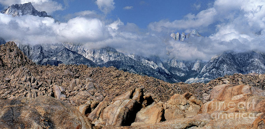 panoramic clearing storm alabama hills eastern sierras california by Dave Welling