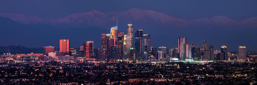 Panoramic Los Angeles at Night by Kelley King